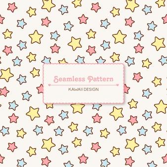 Kawaii carino stelle seamless pattern trasparente