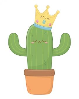 Kawaii di cactus cartoon