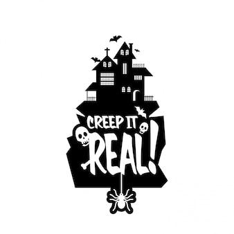 Keep it real design vettoriale di tipografia