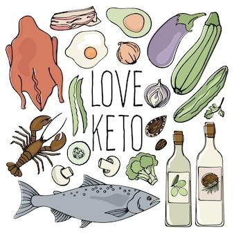 Keto shop cibo salutare basso contenuto di carboidrati