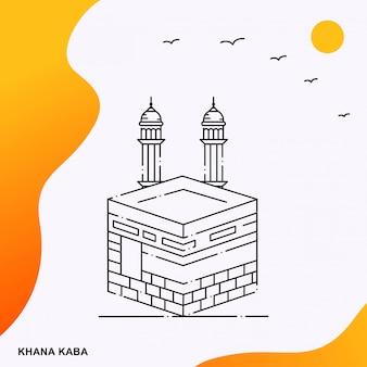 Khana kaba monumento religioso musulmano posto