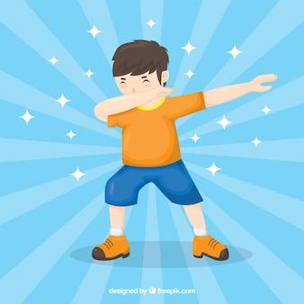 Kid facendo movimento tamponando