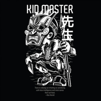 Kid master in bianco e nero