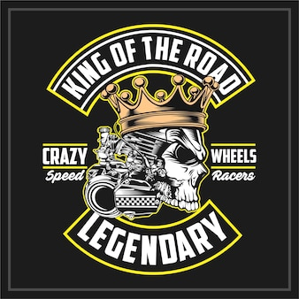 King of the road, emblema vintage
