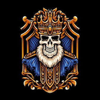 King skull head illustration