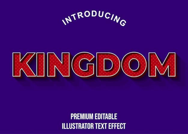 Kingdom - stile di carattere effetto testo rosso scuro 3d