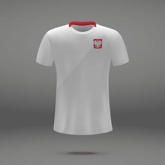 Kit da calcio della polonia, modello da tshirt per la maglia da calcio