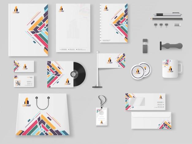 Kit di branding aziendale professionale, compreso il capo della lettera