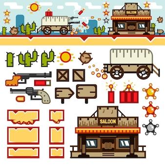 Kit di giochi di livello wild west