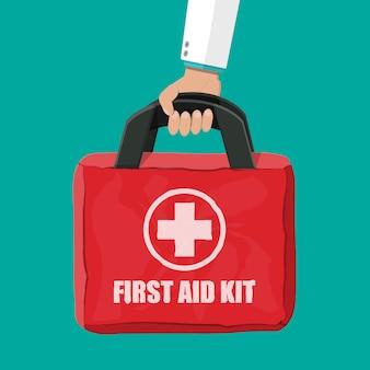 Kit di pronto soccorso. borsa di stoffa per medicina.