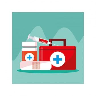 Kit di pronto soccorso medico, giornata della salute