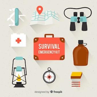 Kit di sopravvivenza di emergenza piatto