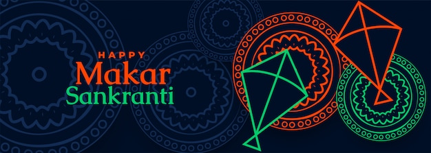 Kite festival makar sankranti design etnico indiano