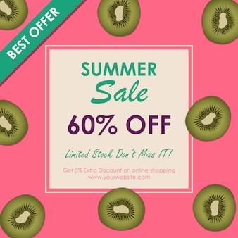 Kiwi summer sale offers banner design