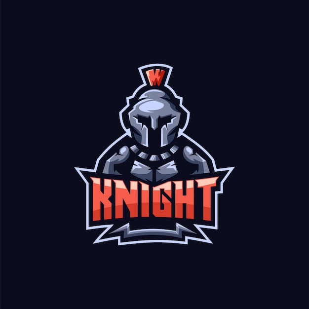 Knight e-sport logo design