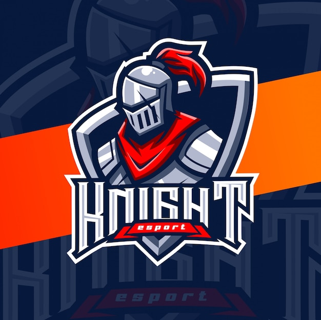 Knight warrior mascot esport logo design