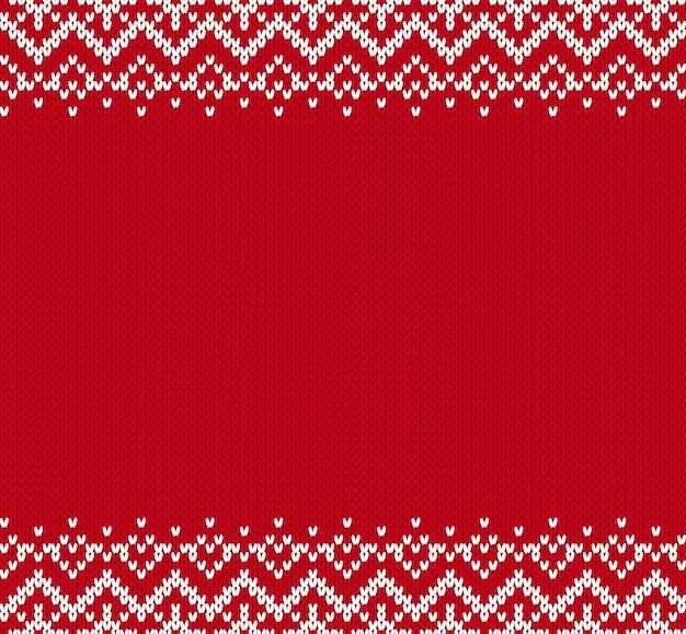 Knit sfondo ornamento con posto vuoto per il testo.