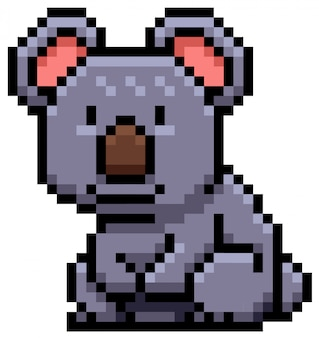 Koala bear pixel design