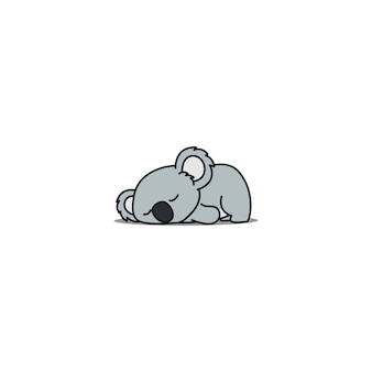 Koala pigro che dorme fumetto