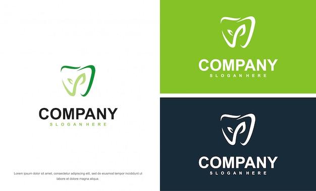 Koleksi vektor logo layanan medis gigi