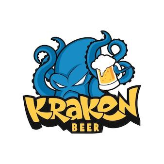 Kraken con beer mascot