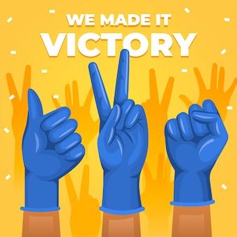 L'abbiamo fatto lettering per la vittoria