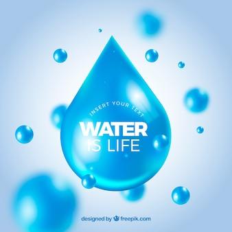 L'acqua cade la priorità bassa nello stile realistico