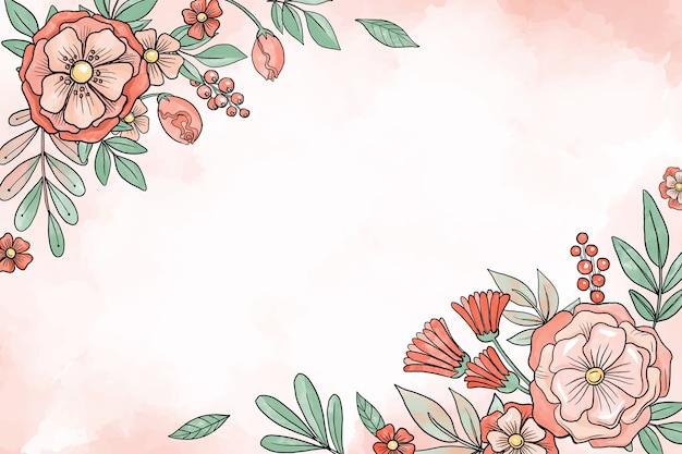 L'acquerello fiorisce il fondo nei colori pastelli