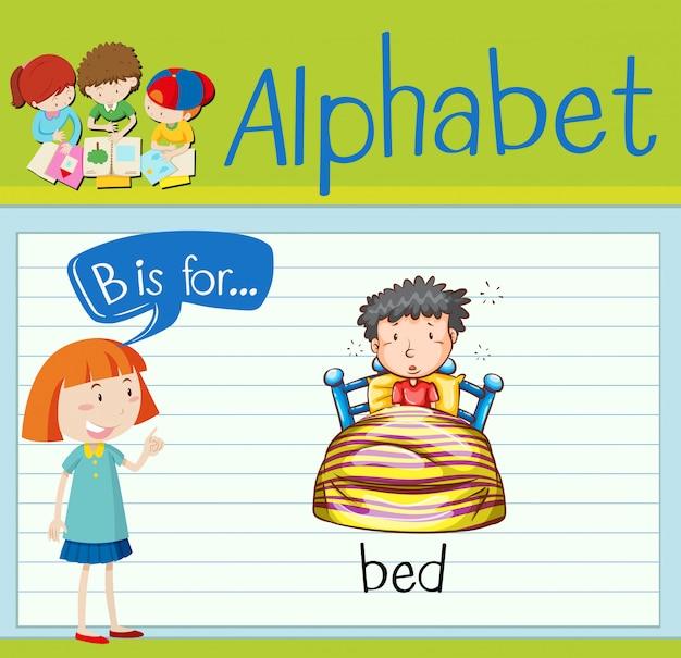 L'alfabeto flashcard b è per il letto