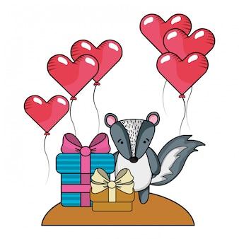 L'amore e gli animali dei cartoni animati