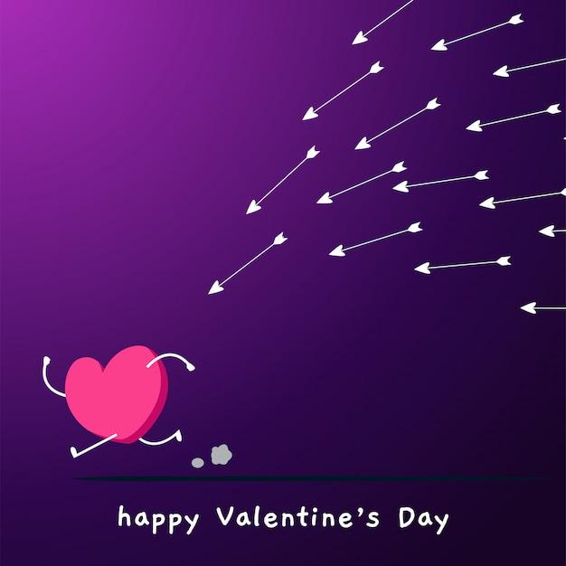 L'amore è inseguito da molte frecce.
