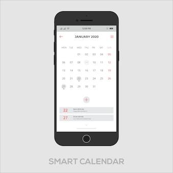 L'app calendario intelligente funziona