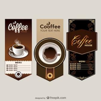 L'elegante caffè menù a prezzo vettore tavolo
