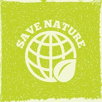 L'energia di eco salva l'illustrazione della natura