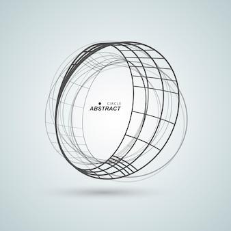 L'estratto collega il fondo di progettazione del cerchio