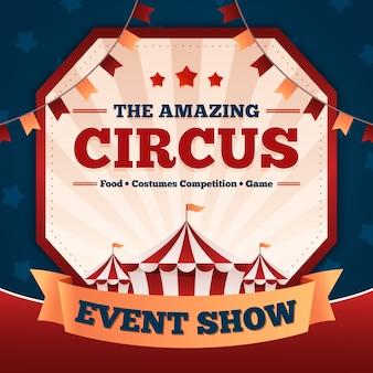 L'evento di carnevale vintage mostra l'incredibile circo
