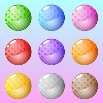L'icona del cerchio abbottona molti stili di colori.