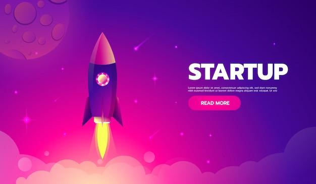 L'icona di lancio di un razzo può essere utilizzata per illustrare argomenti cosmici o una startup di business