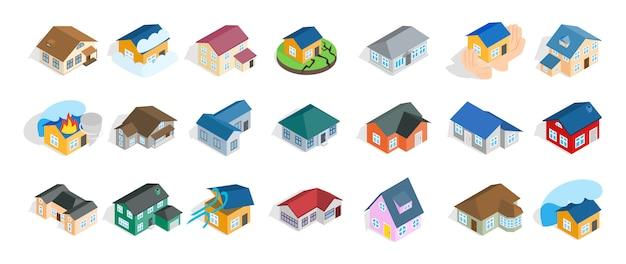 L'icona moderna della casa ha impostato su priorità bassa bianca