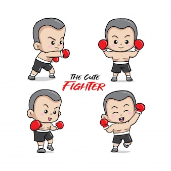L'illustrazione carino piccolo combattente