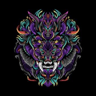 L'illustrazione del cacciatore del re oscuro