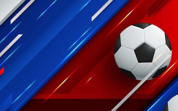 L'illustrazione del campionato di calcio mette in mostra il fondo di sport.