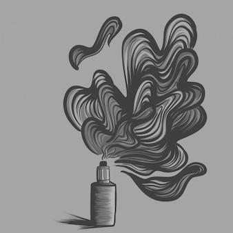 L'illustrazione del vaporizzatore, liquido un automizer
