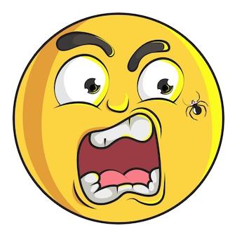 L'illustrazione di emoji sveglio di smiley è spaventata.