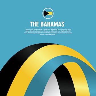 L'illustrazione di progettazione del modello di vettore di festa dell'indipendenza delle bahamas