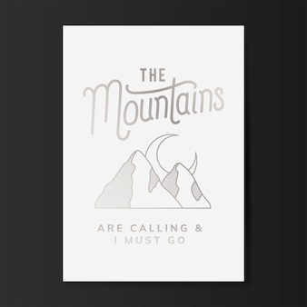 L'illustrazione logo montagne