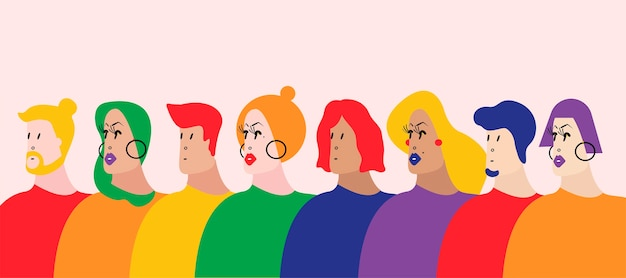 L'illustrazione vettoriale di queer community lgbtq