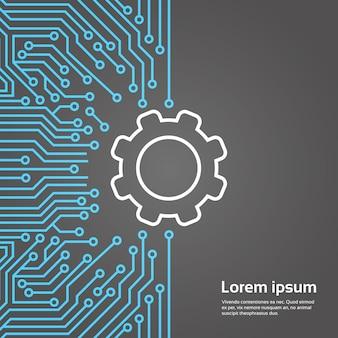 L'ingranaggio del concetto del centro dati del centro dati della rete del fondo di moterboard del chip di computer di ingranaggio del dente