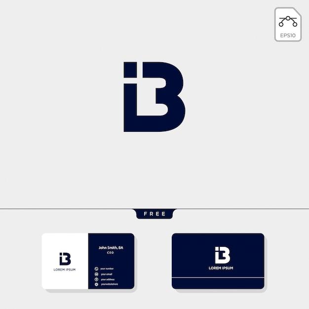 L'iniziale astratto premiato b, la progettazione di biglietto da visita dell'illustrazione di vettore del modello di logo include
