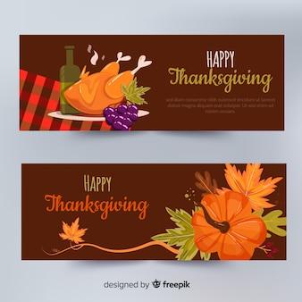 L'insegna felice del giorno di ringraziamento ha messo con alimento e le zucche